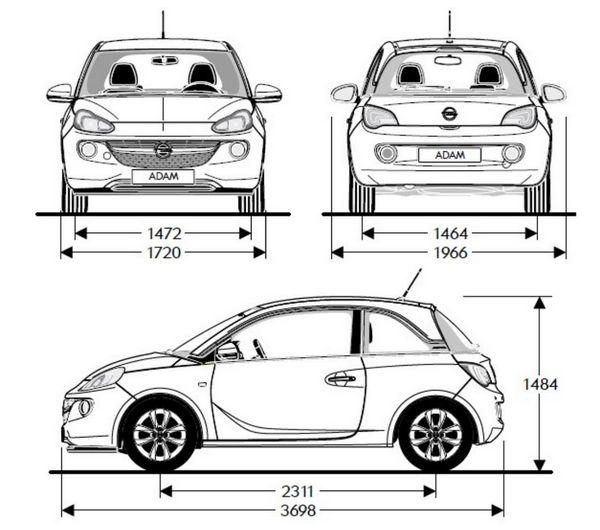 opel adam przekroj Test: Opel Adam 1.4 Ecotec