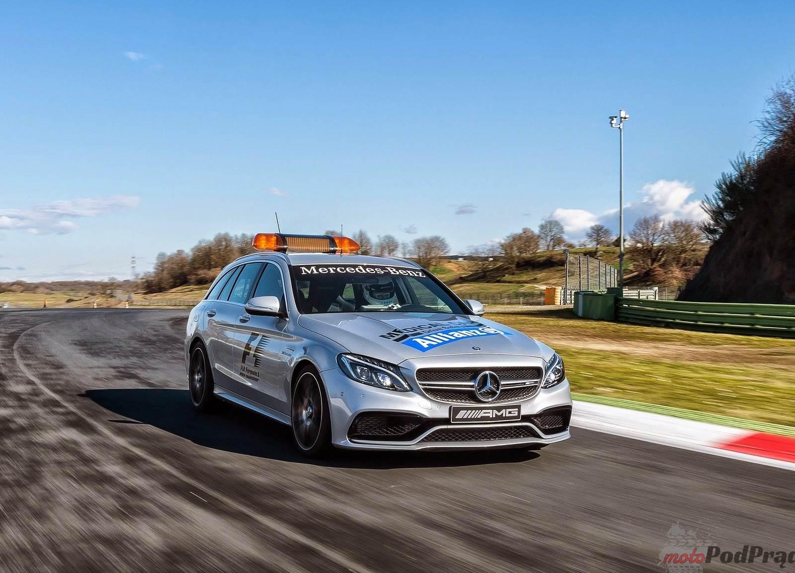 2015 Mercedes Benz C63 AMG S Estate F1 Medical Car [Genewa 2015] Mercedes Benz C63 AMG S Estate F1 Medical Car   ciekawa karetka