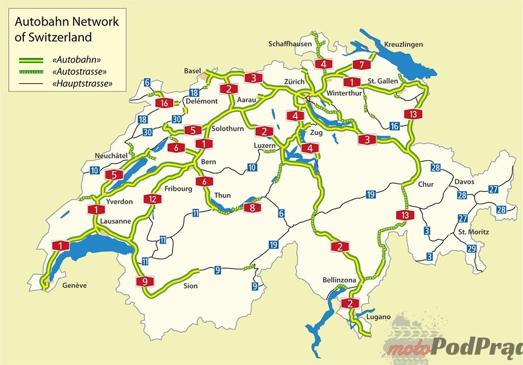 Szwajcaria Ile kosztują autostrady za granicą?