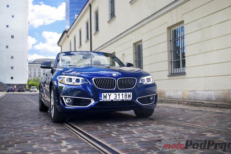 BMW cabrio 1 Test: BMW 218i Kabrio Luxury Line   tylko lans, czy coś więcej?
