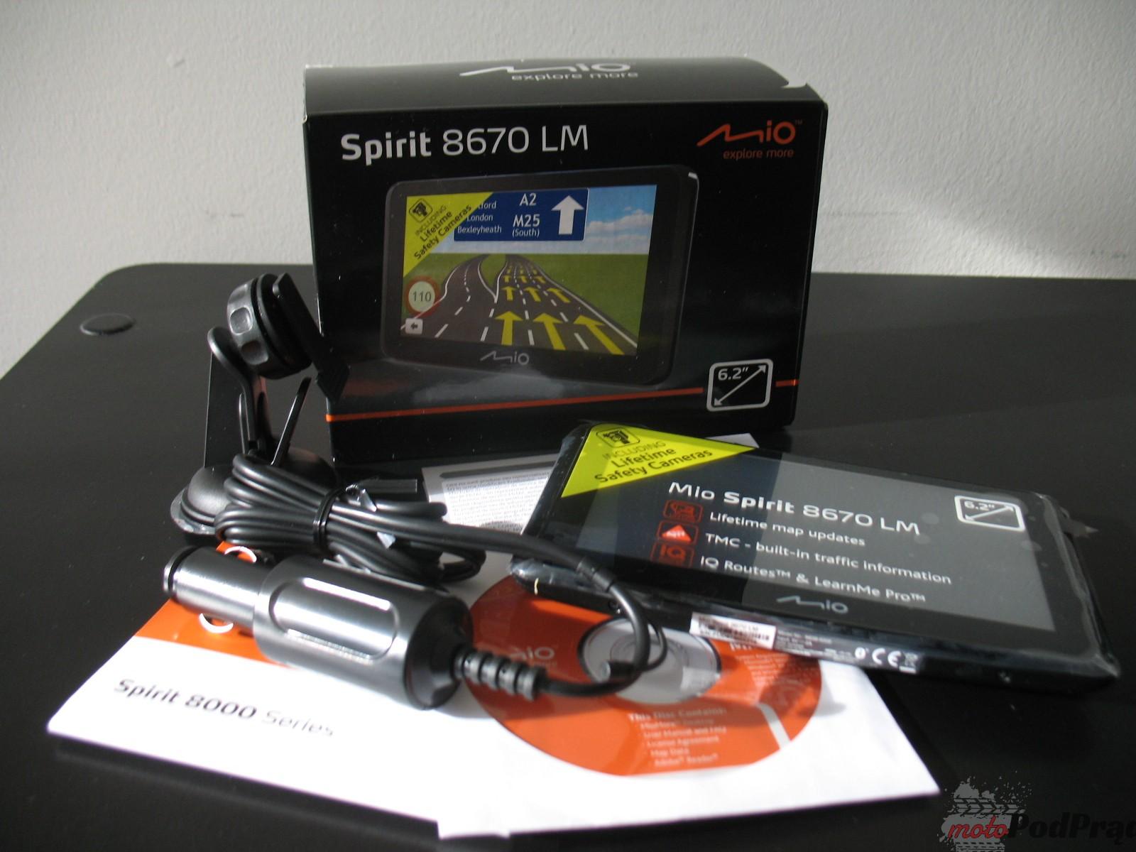 Mio spirit 8670 LM 4 Test: Nawigacja PND Mio Spirit 8670 LM   fajne dodatki