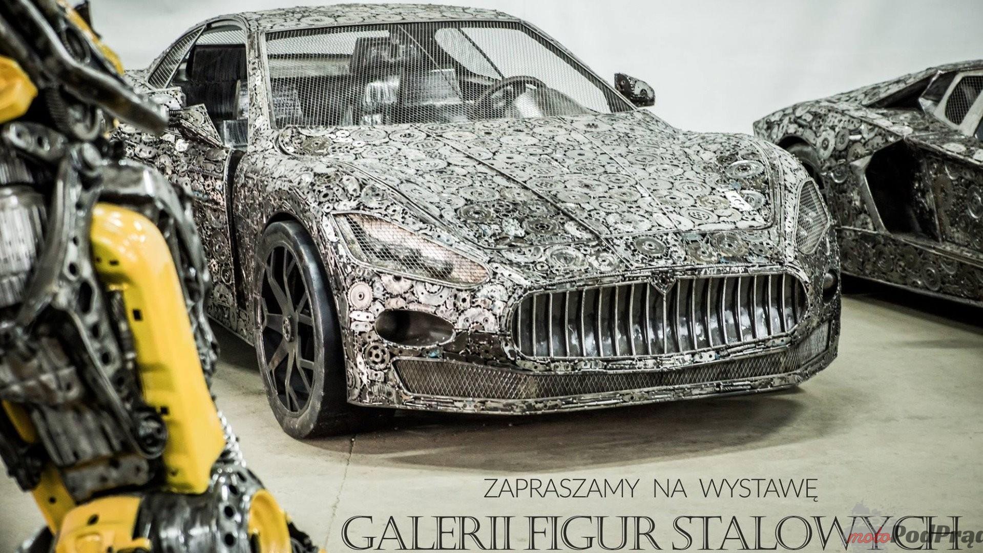 scrap metal supercar sculptures 1 Unikalne dzieła sztuki pod Warszawą