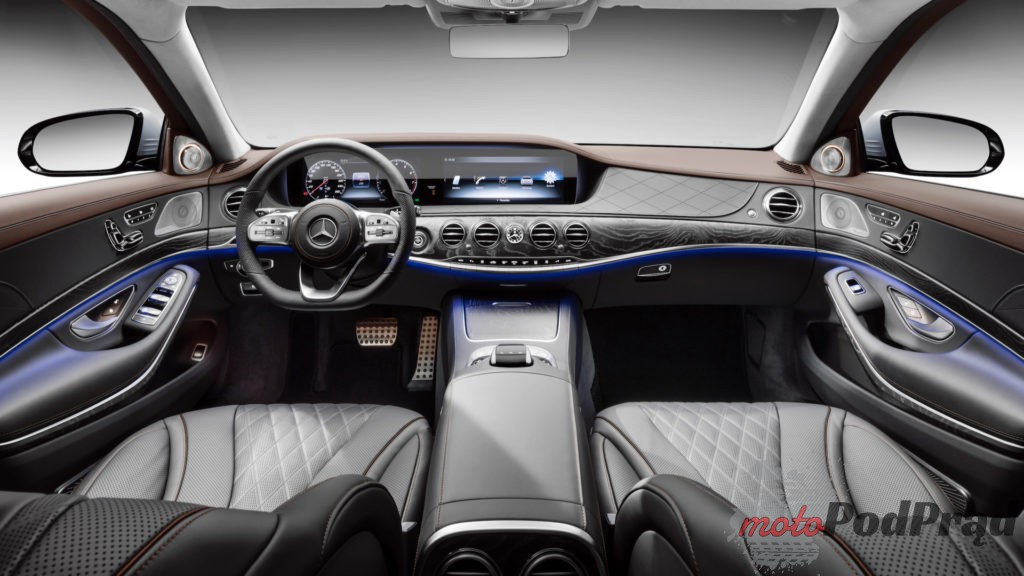 2018 mercedes benz s550 1 1024x576 Nowa twarz, silniki i porcja technologii w klasie S