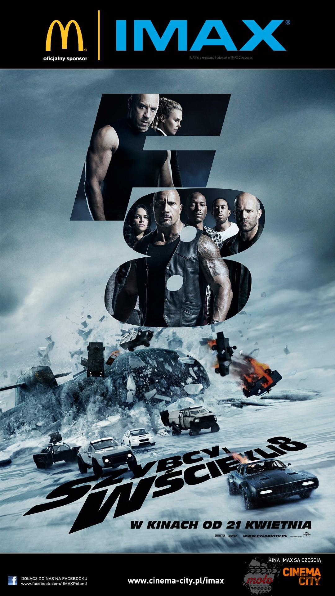 FF8 IMAX Plakat Szybcy i wściekli 8   raczej wściekle niż szybko