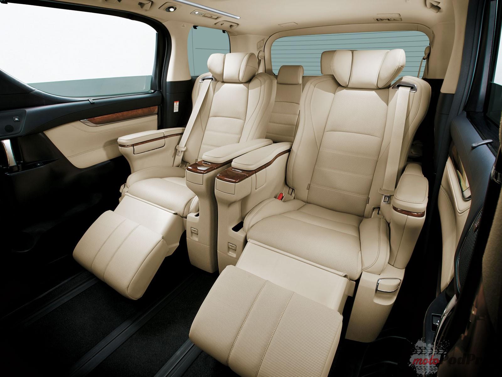 FOTELE Niedostępne w Polsce: Toyota Alphard. Klasa biznes.