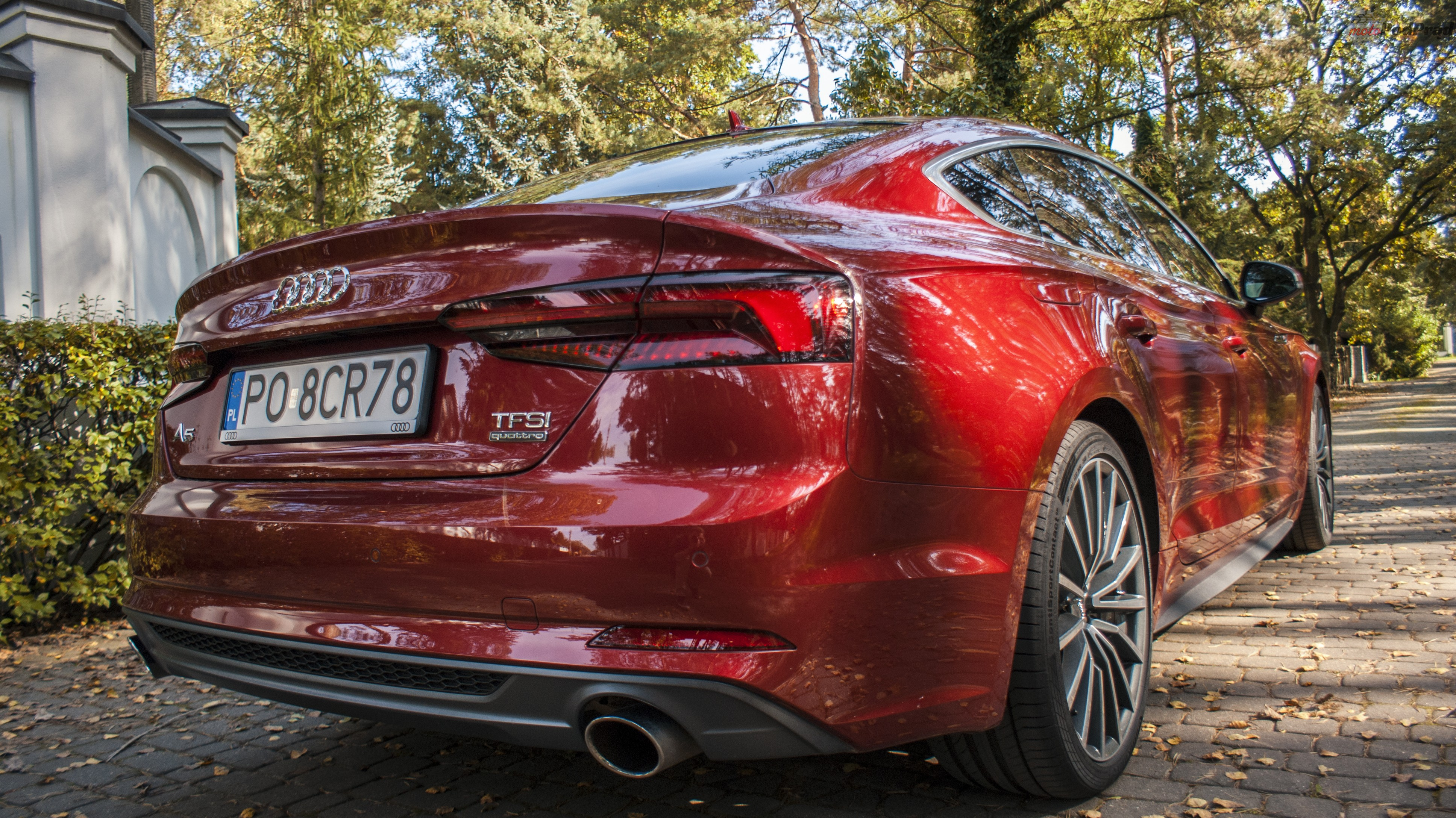 DSC01869 Test: Audi A5 Sportback 2.0 TFSI Quattro   Kwestia opakowania.