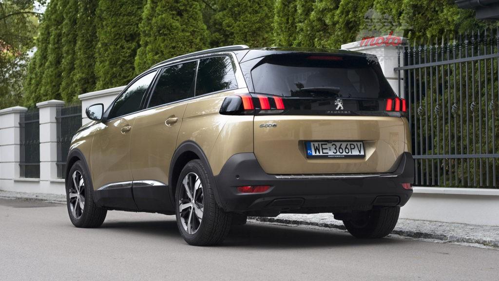 peugeot 5008 tył  1024x576 Test: Peugeot 5008 Allure 1.6 THP   indywidualista na przekór...