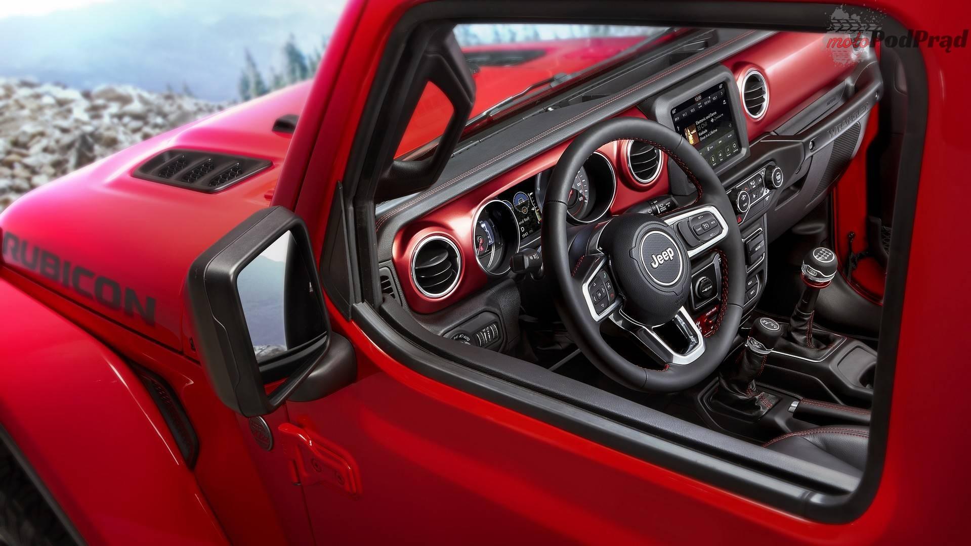 2018 jeep wrangler Nowy Jeep Wrangler   tym razem widać wnętrze