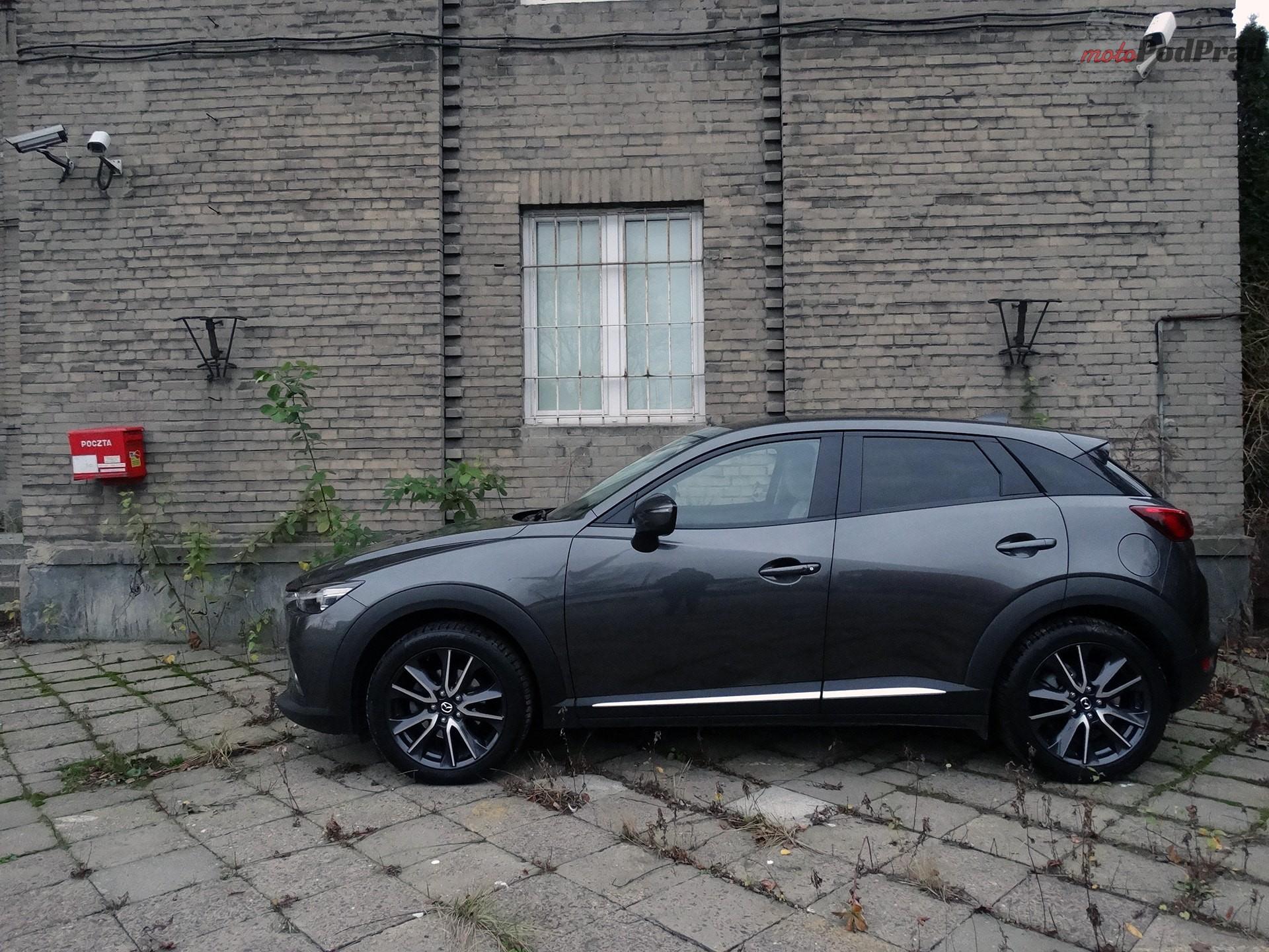 mazda cx 3 4 Minitest: Mazda CX 3 2.0 150 KM 4x4   na przekór modzie
