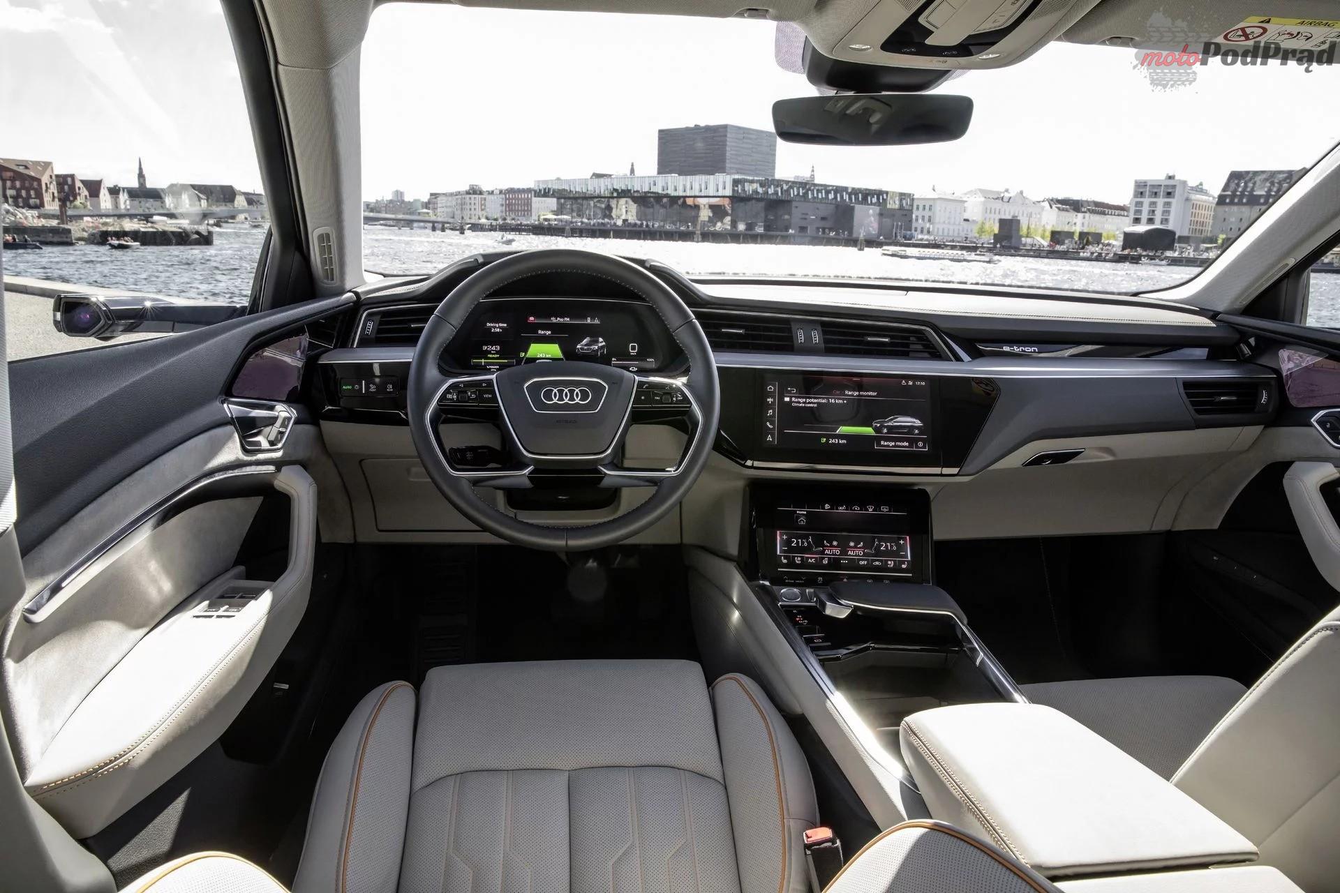 audi etron interior 3 Audi tworzy auto bez normalnych lusterek