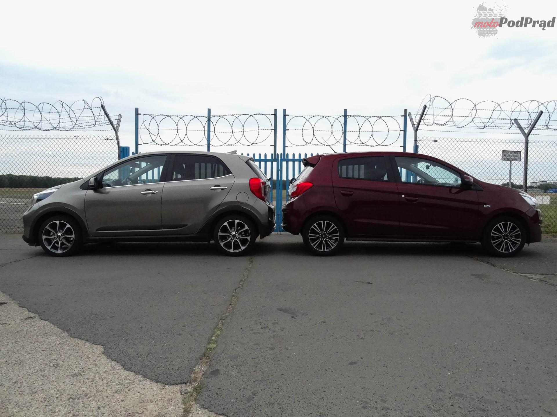 Kia Picanto vs Mitsubishi Space Star 8 Porównanie: Kia Picanto kontra Mitsubishi Space Star   dwa światy