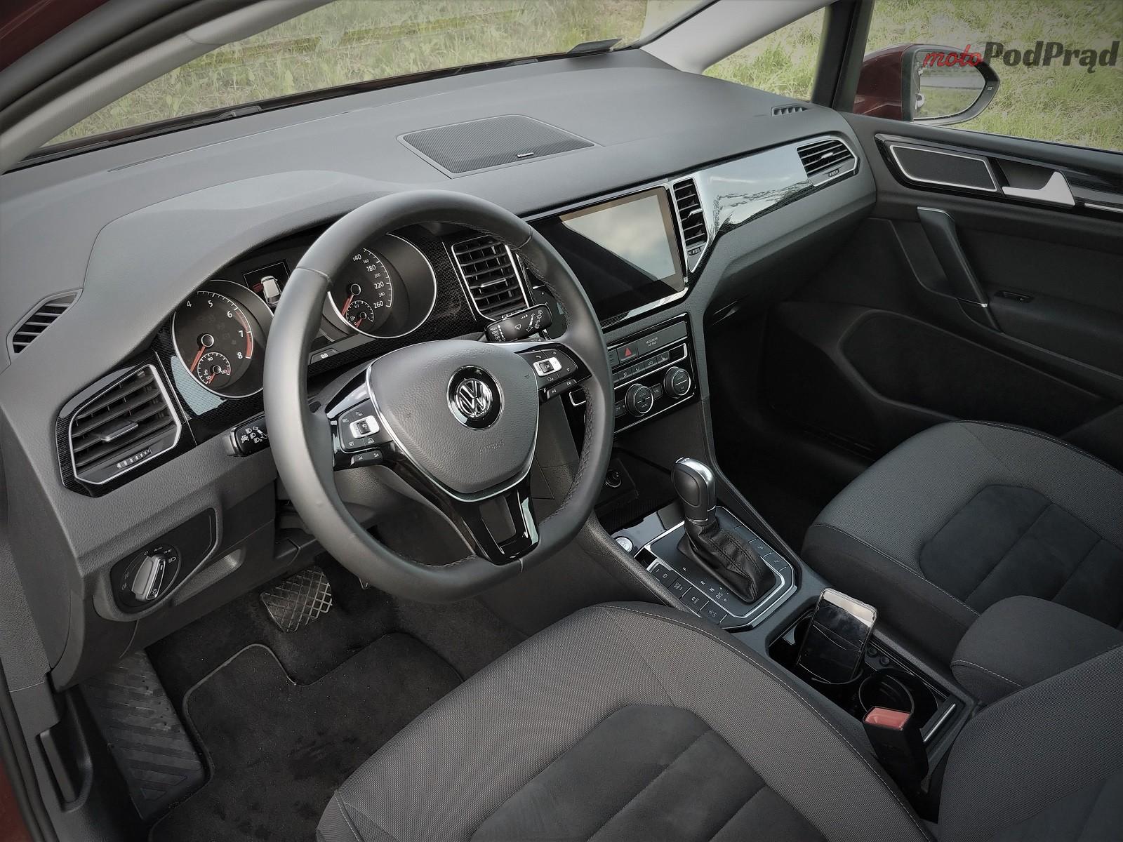 Volkswagen Golf Sportsvan 15 Test: Volkswagen Golf Sportsvan 1.5 TSI   garbaty anioł