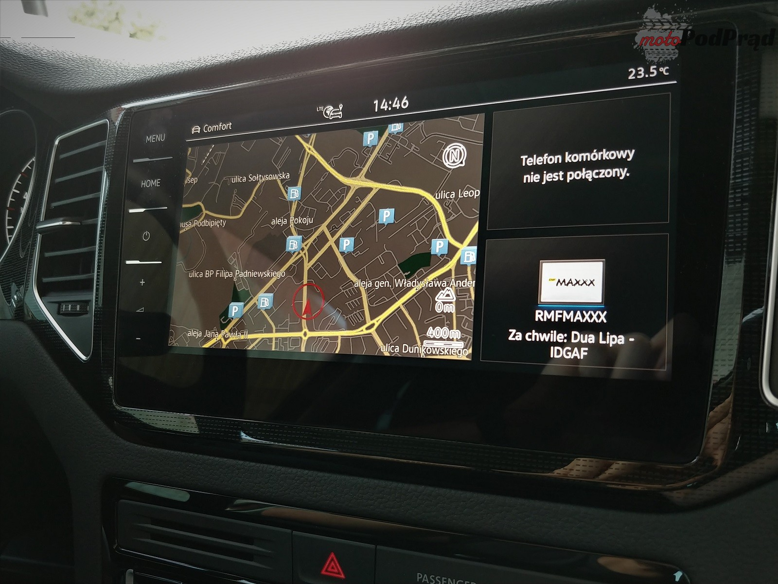 Volkswagen Golf Sportsvan 34 Test: Volkswagen Golf Sportsvan 1.5 TSI   garbaty anioł