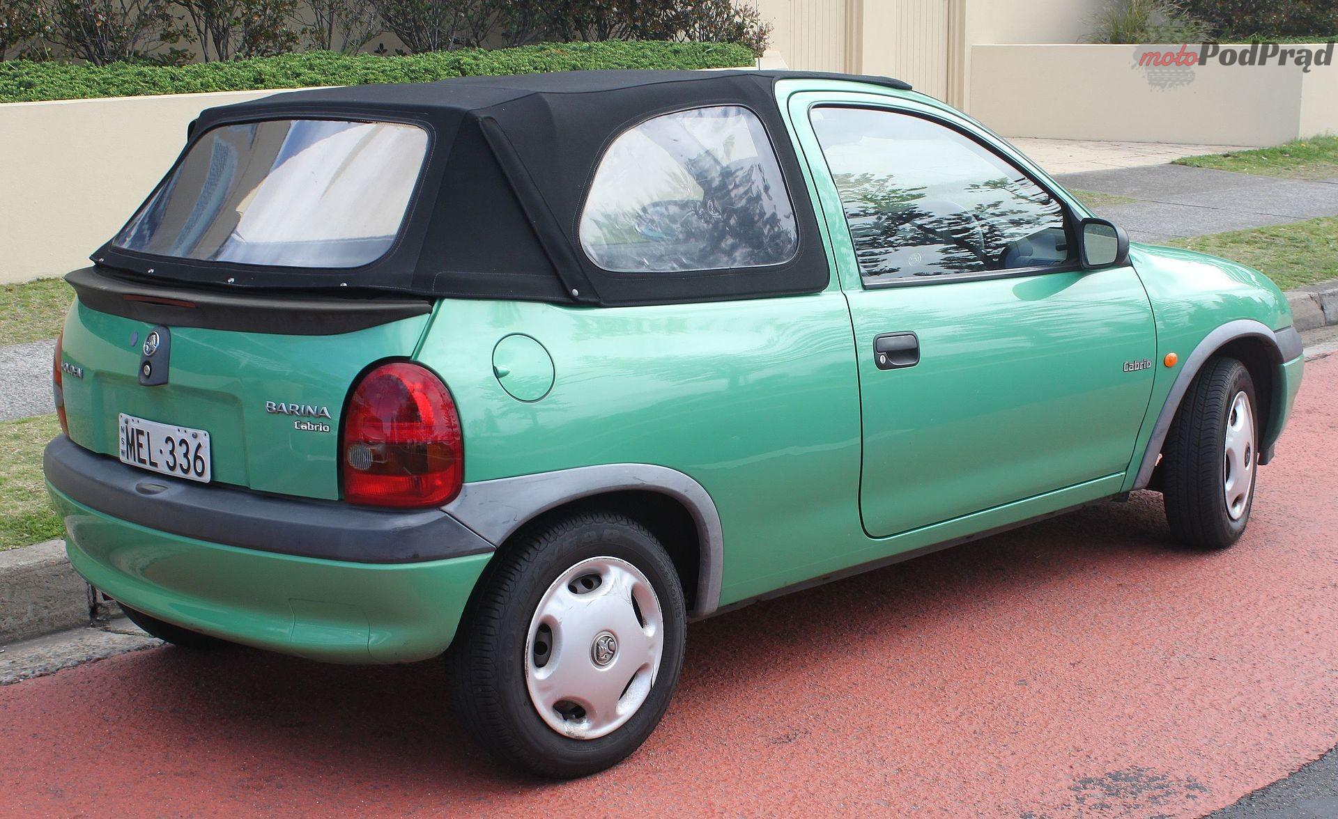 1998 Holden Barina SB Cabrio convertible 21680377273 Znalezione: Opel Corsa B kombi. Jedyna taka!