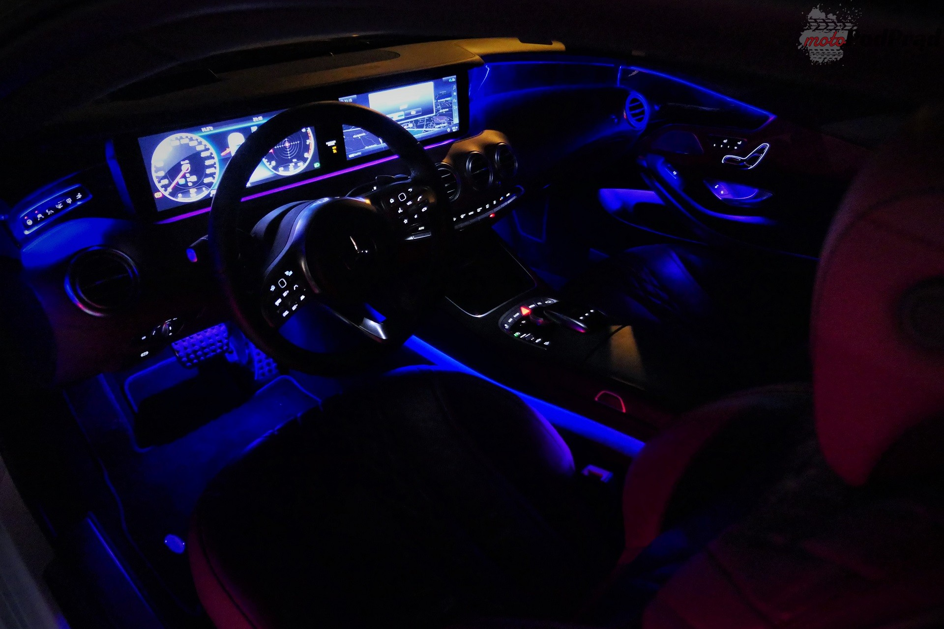 mercedes wnętrze nocą Test: Mercedes S560 Coupe   szał pał