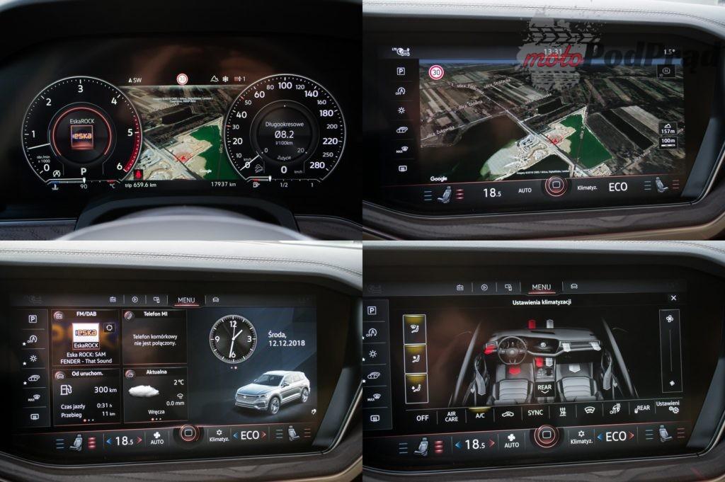 ekrany 1024x681 Test: Volkswagen Touareg R Line 3.0 TDI   technologia ponad wszystko