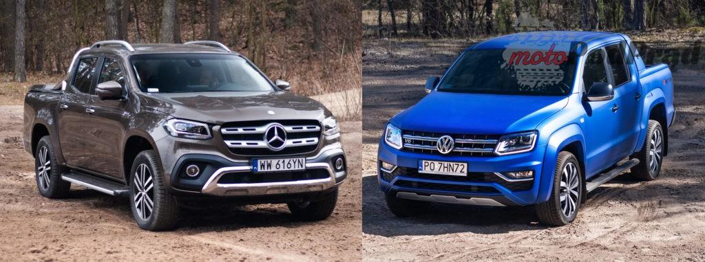 volkswagen amarok mercedes x 1 1024x381 Porównanie: Volkswagen Amarok Aventura V6 3.0 TDI VS. Mercedes X350d V6 – mocarny pojedynek