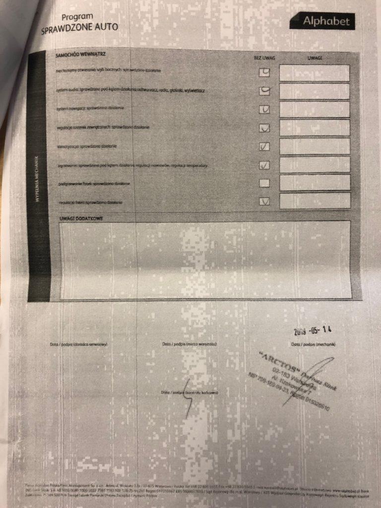 dokumenty Insognia 2 768x1024 Używane: Poleasingowy Opel Insignia 1.6 T 170 KM z przebiegiem 50 000 km cz. 1