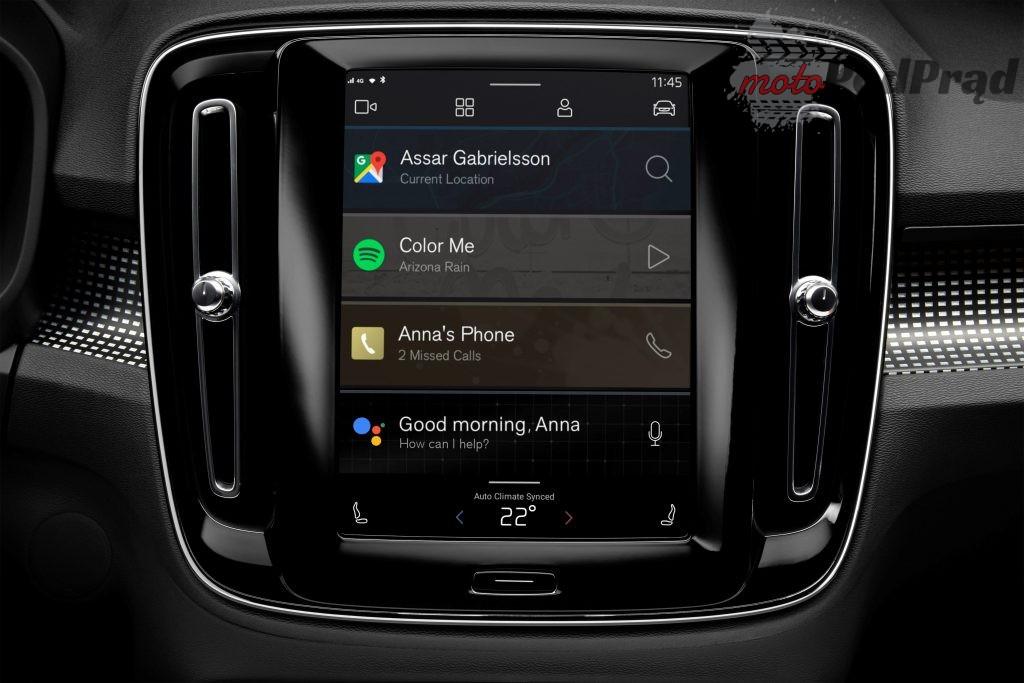 258992 fully electric volvo xc40 introduces brand new infotainment system 1024x683 Samochód jak smartfon? Volvo będzie ściśle współpracować z Google