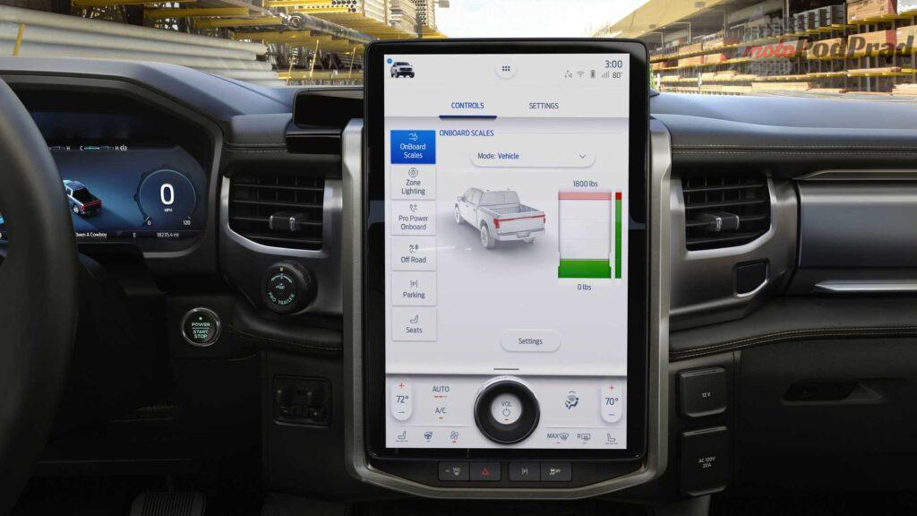 2022 ford f 150 lightning touchscreen 1024x576