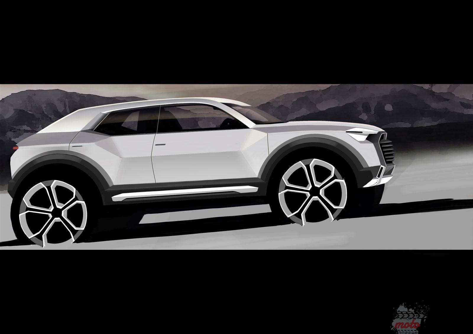 Audi Q1 Crossover teaser Audi zadebiutuje z dwoma nowymi modelami elektrycznymi