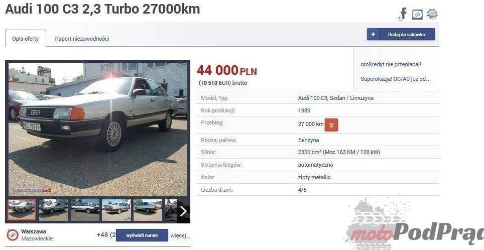 aaaa [Znalezione] Audi 100 C3 Turbo