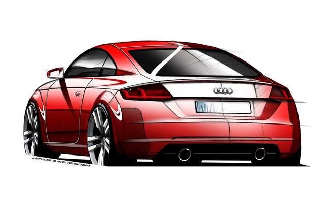 szkice audi tt Nowe Audi TT jeszcze w tym roku!